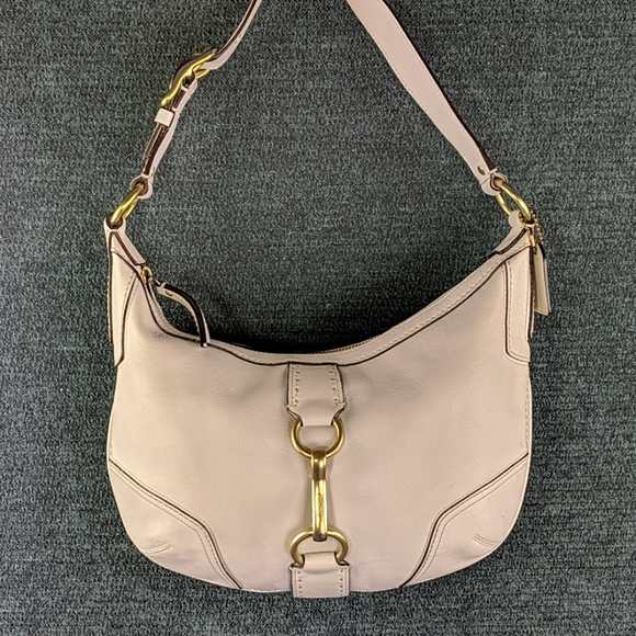 Coach White Leather Classic Shoulder Bag
